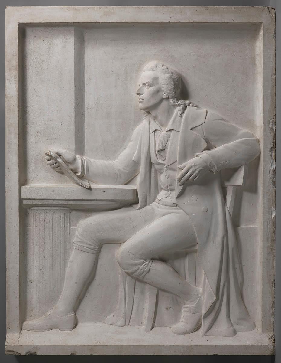 Der Dichter Friedrich Schiller (Abguss? des Reliefs am Schillerdenkmal in Nürnberg)