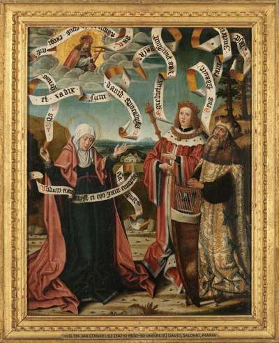 König David, Salomo und Maria Rückseite: Enthauptung Johannes d. T.