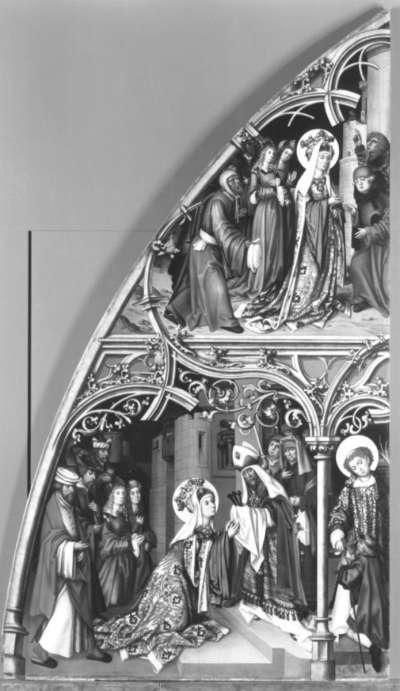 Basilika San Lorenzo und Basilika San Sebastiano, rechte Tafel: Szenen aus der Kreuzlegende