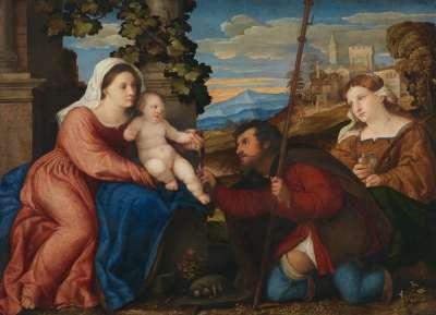 Maria mit Kind und den hll. Rochus und Aurea