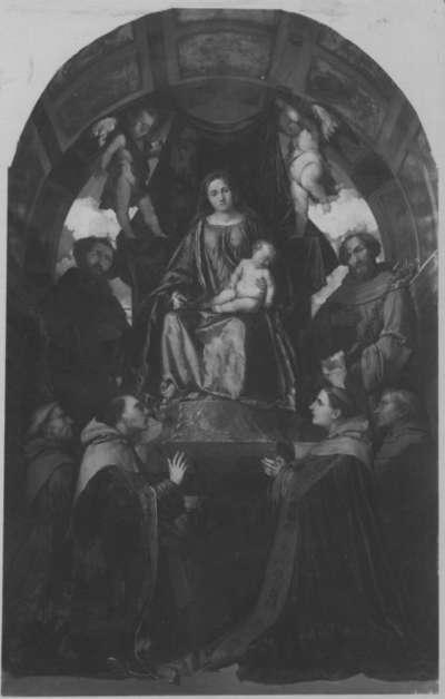 Thronende Madonna mit Heiligen (nach Girolamo Romanino)