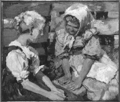 Spielende Mädchen