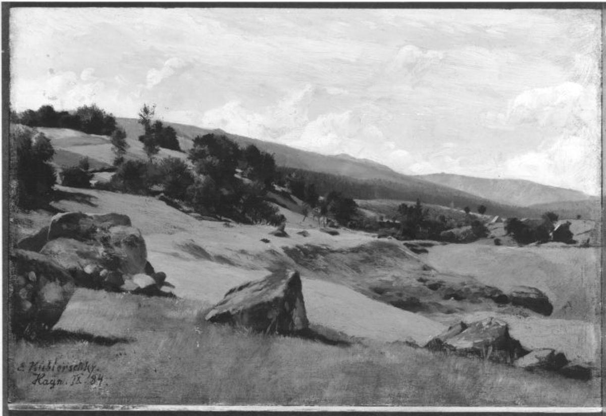 Moränenlandschaft (Aus dem Riesengebirge)