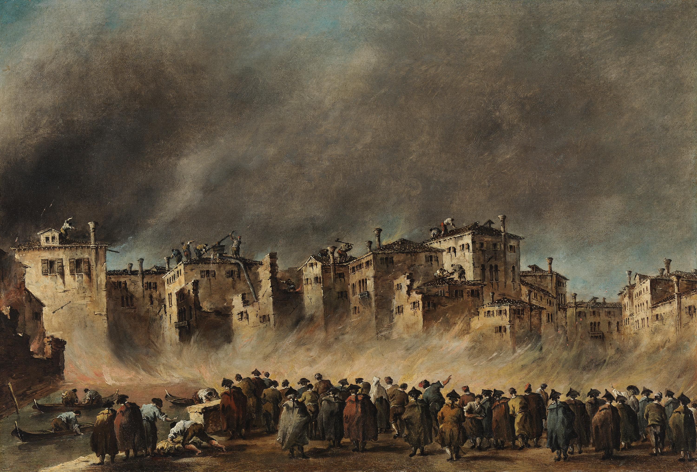 Der Brand im Quartier von San Marcuola