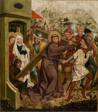Rottenbucher Altar: Kreuztragung Christi (Rückseite: ehemals Relief)