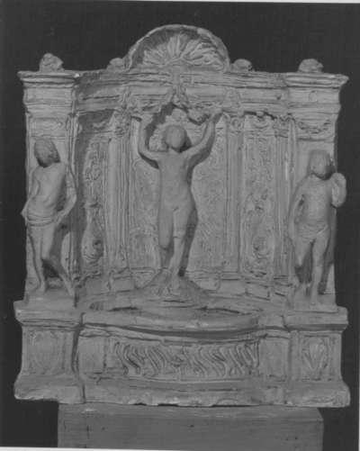Modell für einen Wandbrunnen