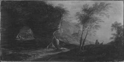 Landschaft mit Felsentor