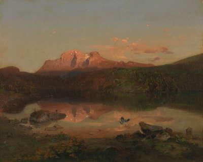 Der Hohe Göll bei Alpenglühen