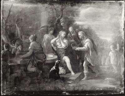 Allegorische Darstellung (Szene am Brunnen)