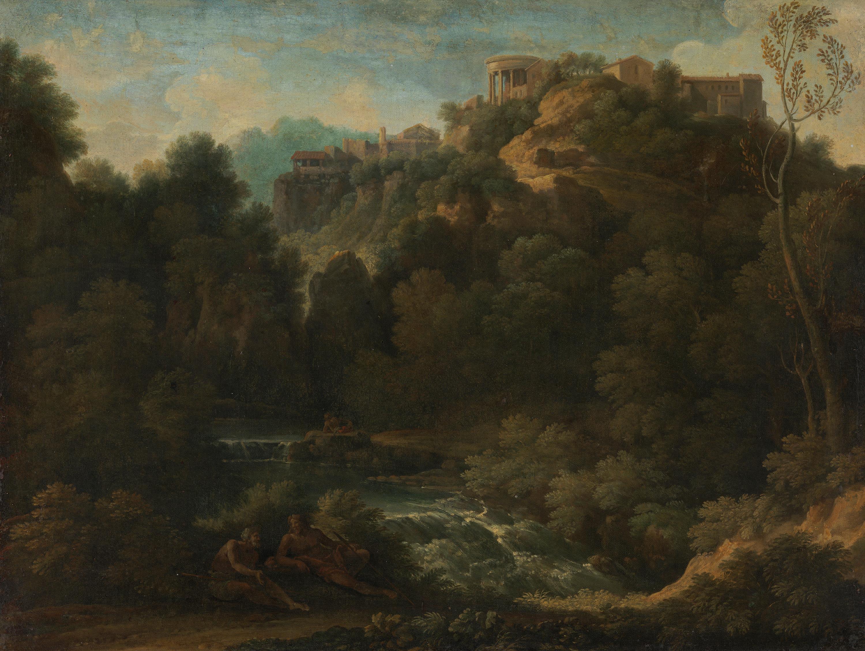Landschaft mit Ansicht von Tivoli