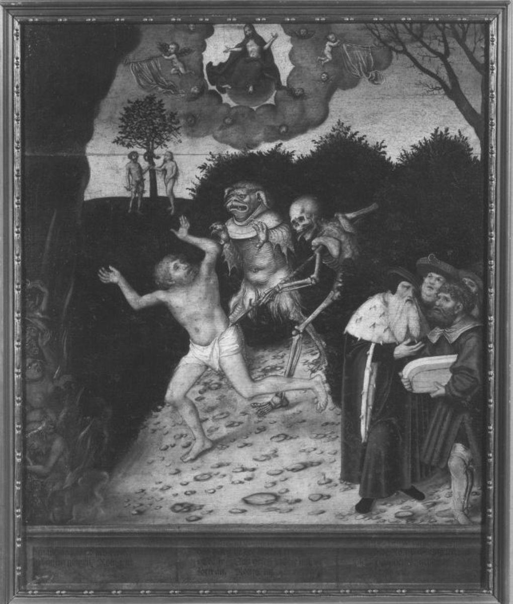Allegorie auf Gesetz und Gnade: Der Sündenfall