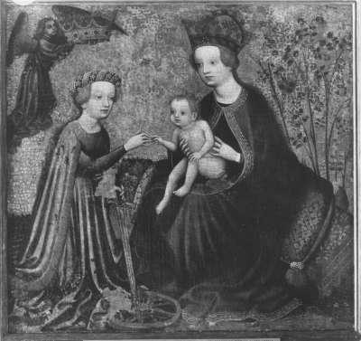 Katharinen-Altar: Mystische Vermählung der hl. Katharina Rückseite: Predigt der hl. Katharina(?)
