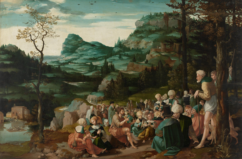 Die Predigt Johannes des Täufers in der Wüste