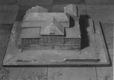 Modell für ein Teilgebäude des Theaters in Stuttgart