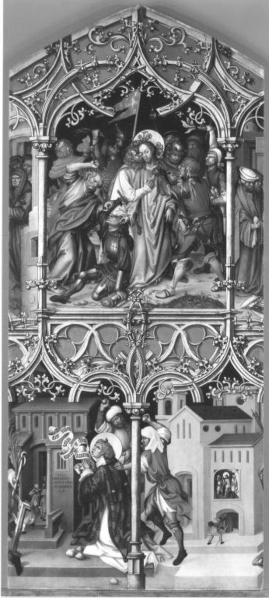 Basilika San Lorenzo und Basilika San Sebastiano, Mitteltafel: Gefangennahme Christi