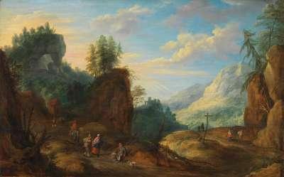 Straße im Gebirge