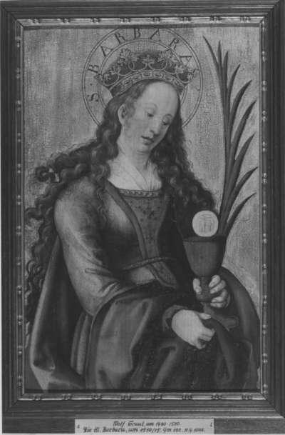 Flügel einer Altar-Predella: Hl. Barbara