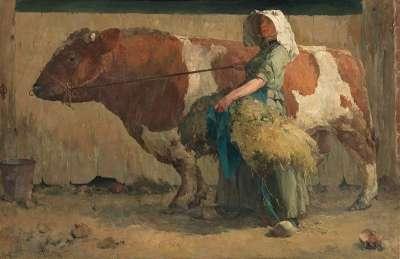 Frau mit Stier