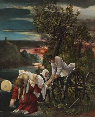 Florianslegende: Die Bergung der Leiche des hl. Florian