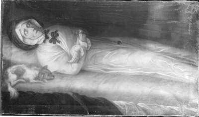 Elisabeth Winkopp auf dem Totenbett