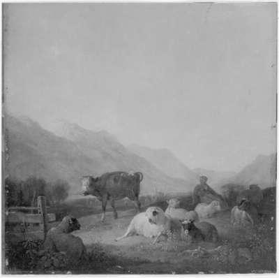 Weideplatz im Loisachtal bei Murnau