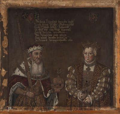 Friedrich II. der Weise mit Gemahlin Dorothea