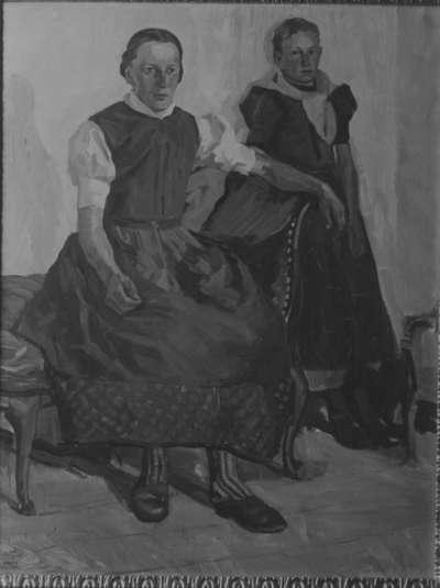 Bäuerin und Mädchen