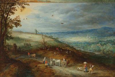 Landschaft mit Windmühle