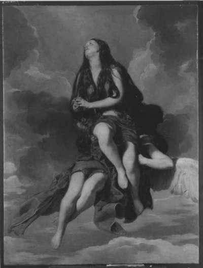 Maria Magdalena wird von Engeln emporgetragen