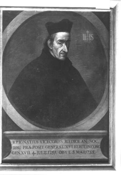 Bildnis des Jesuiten Ignatius Vicecomes Mediolan