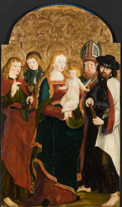 Maria mit dem Kinde und den hll. Johannes Ev., Georg, Ulrich und Jakobus d. Ä.