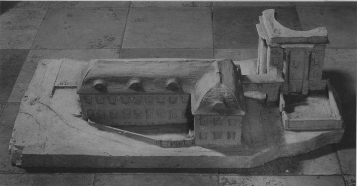 Modell für den Anbau an das Armeemuseum in München
