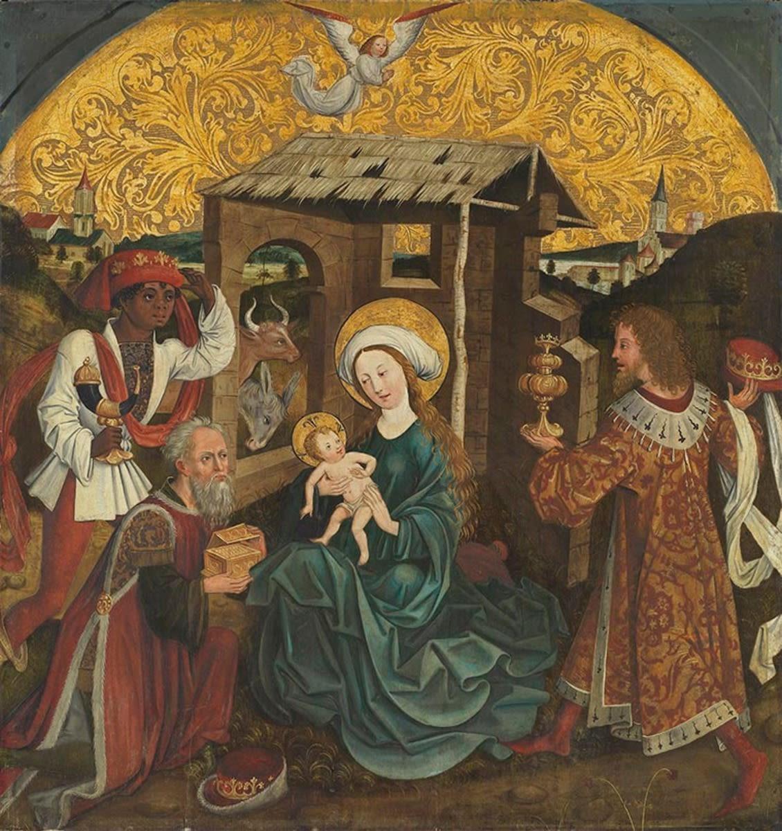 Anbetung der Könige Rückseite: Verkündigung an Maria