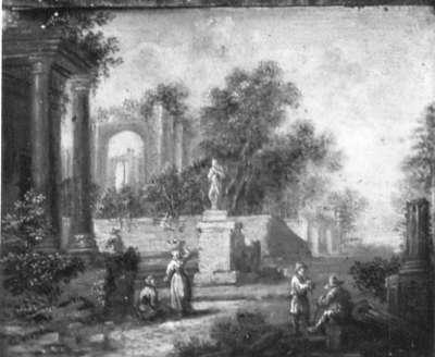 Landschaft mit Ruinen