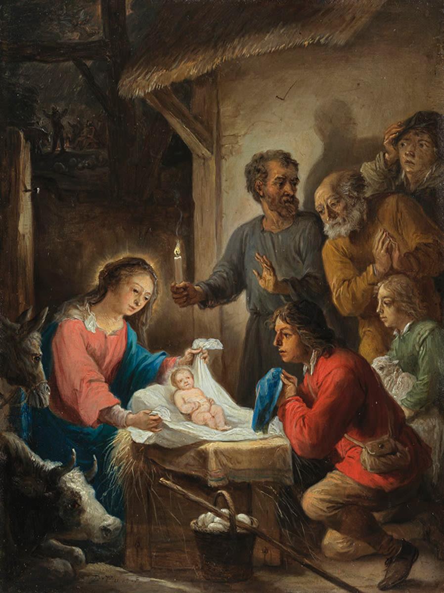 Geburt Christi und Anbetung der Hirten