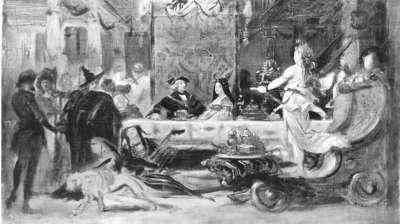 Hochzeitsbankett des Erzherzogs Maximilian von Österreich