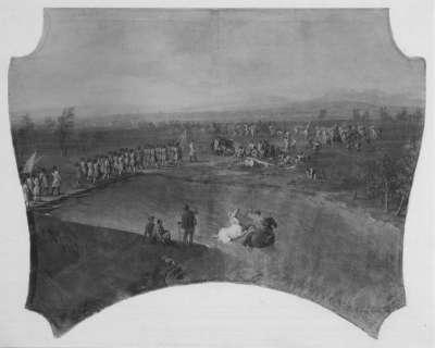 Der Übergang der Armee über die Drau bei Siklos 1687