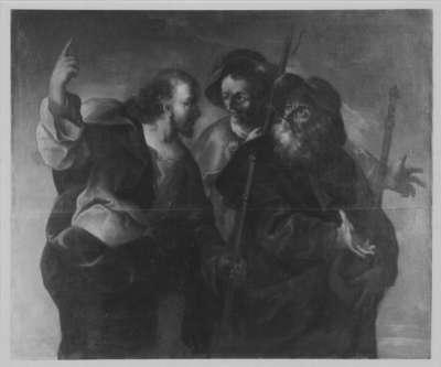 Christus mit den Jüngern auf dem Weg nach Emmaus
