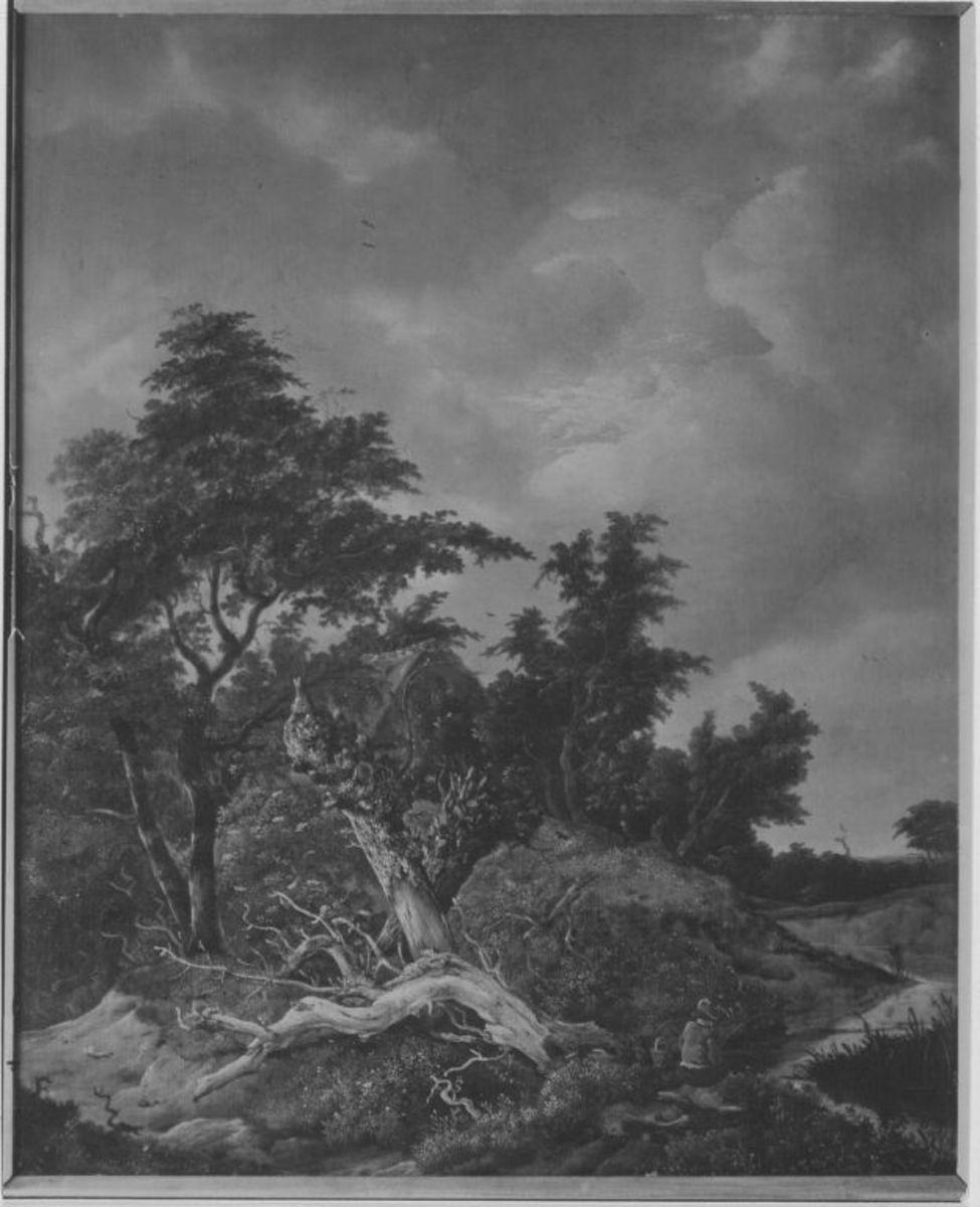 Baumlandschaft mit Bauernhütte