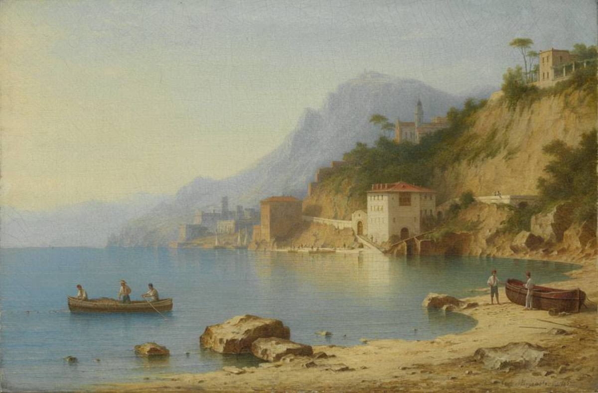 Ansicht von Villafranca bei Nizza