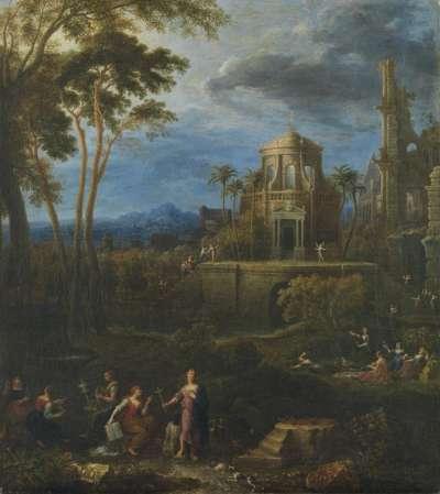 Landschaft mit dem Gleichnis von den klugen und törichten Jungfrauen