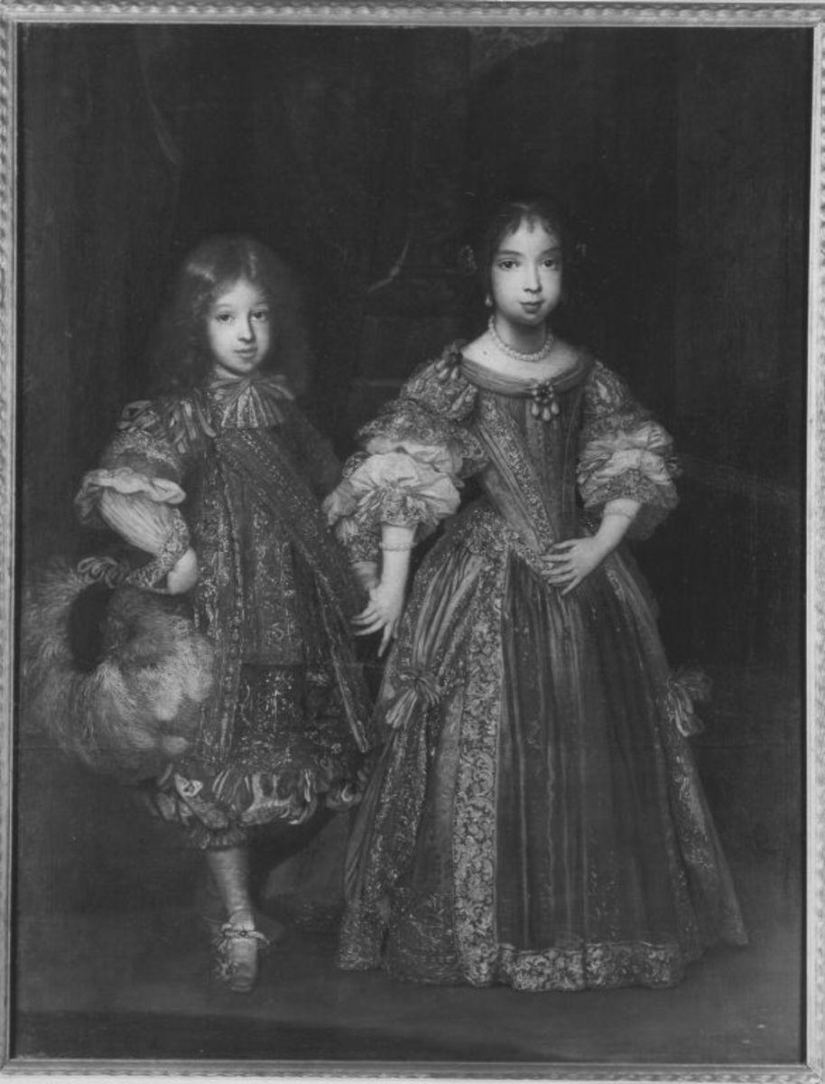 Erbprinz Max Emanuel II. und Maria Anna als Kinder