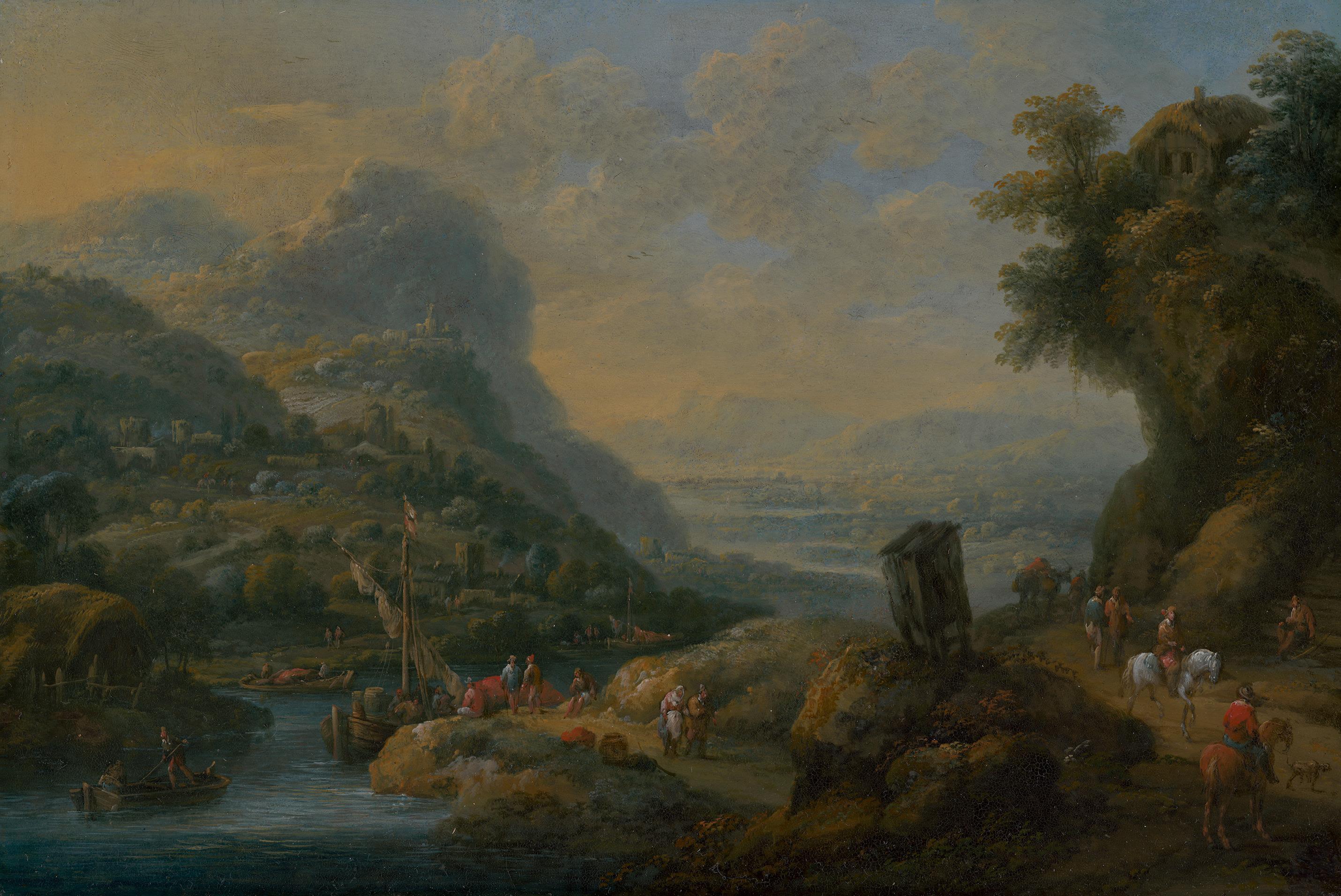 Felsige Landschaft mit Aussicht auf ein Flusstal