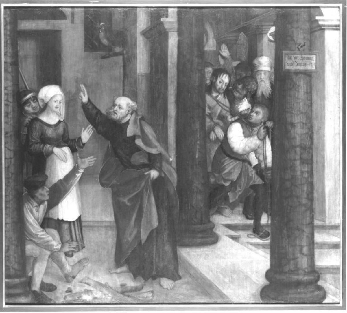 Erster Wettenhauser Altar: Verleugnung Petri und Verspottung Christi Rückseite: nicht erhalten
