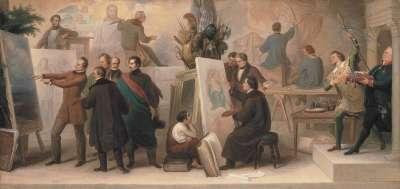 Die von König Ludwig I. zur Ausführung seiner Ideen berufenen Künstler im Fach der Historien-, Schlachten-, Landschafts- und Genremalerei
