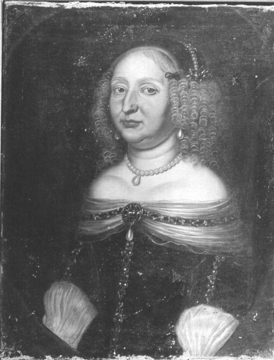 Bildnis der Sophie Eleonore von Sachsen, Landgräfin von Hessen-Darmstadt, Gemahlin des Landgrafen Georg II. (1609-1671)