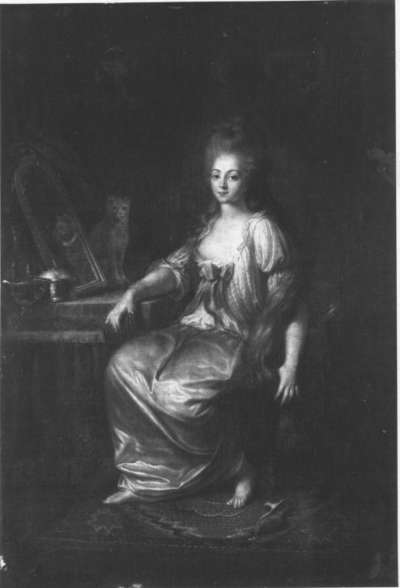 Maria Barbara Mannlich, die Frau des Künstlers