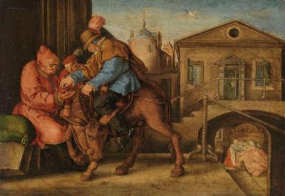 Der barmherzige Samariter bezahlt den Wirt