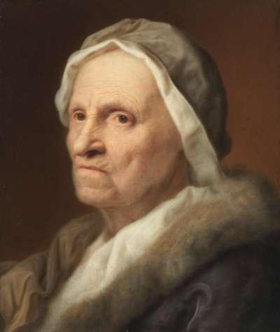 Bildnis einer alten Frau im Pelz