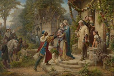 Die Sage von Pippin und Bertha (Triptychon, Mittelteil)